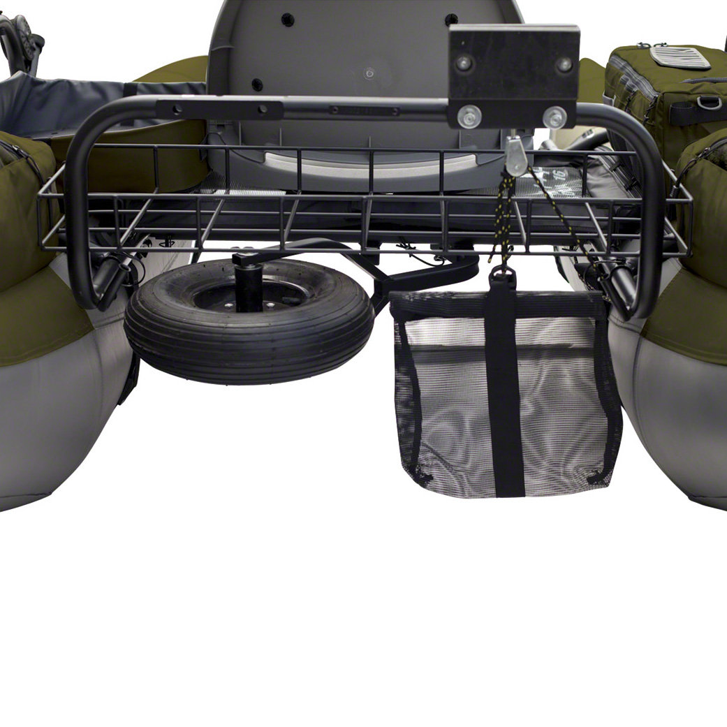 Inflatable pontoon boat outdoor fishing raft with for Pontoon boat motor mount