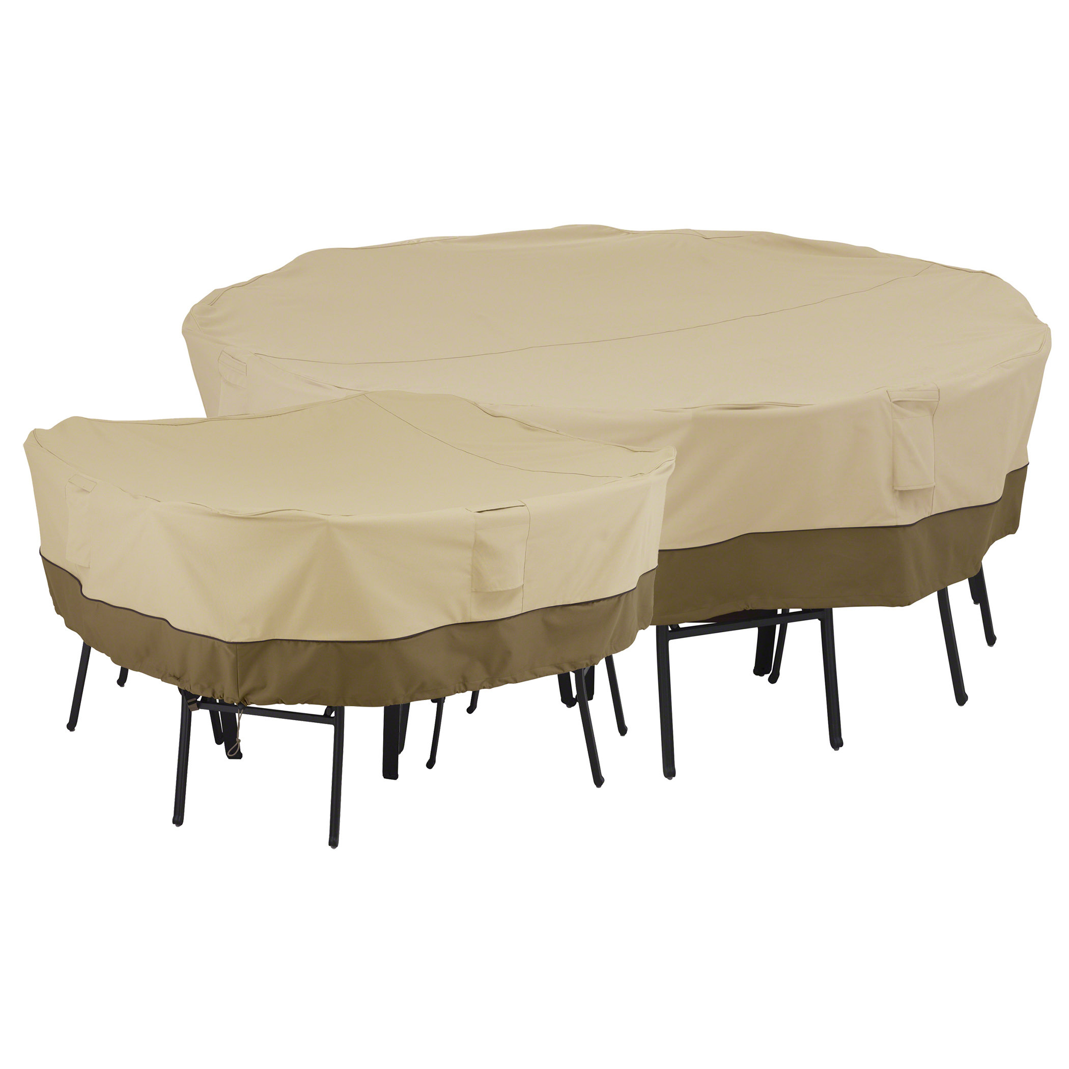 classic accessories veranda patio square table and chairs cover for 4 chair. Black Bedroom Furniture Sets. Home Design Ideas