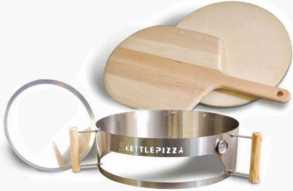 made in usa kettlepizza deluxe pizza oven kit for kettle grills includes stone. Black Bedroom Furniture Sets. Home Design Ideas
