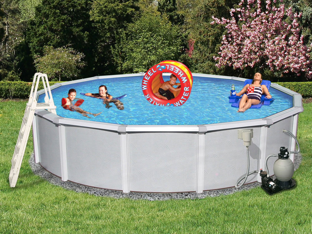 Blue wave belize 18 feet round 48 inch deep 6 for Pool time pools
