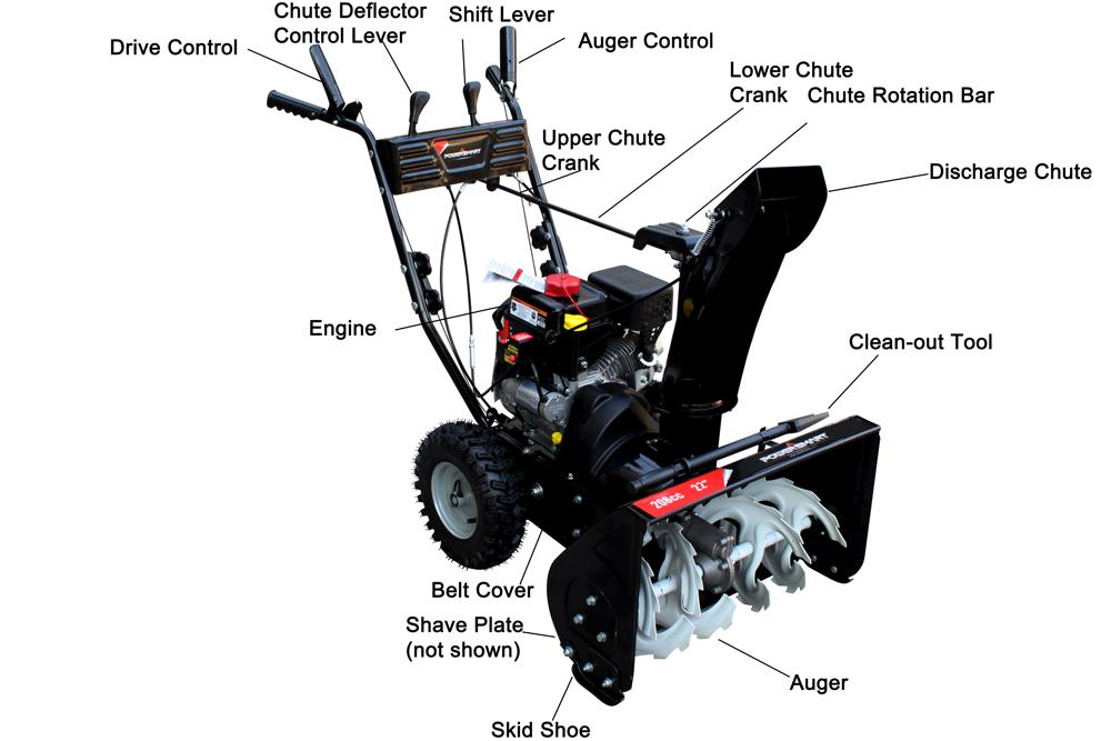 Power Smart Snow Blower Parts : Amazon power smart db a inch cc lct gas