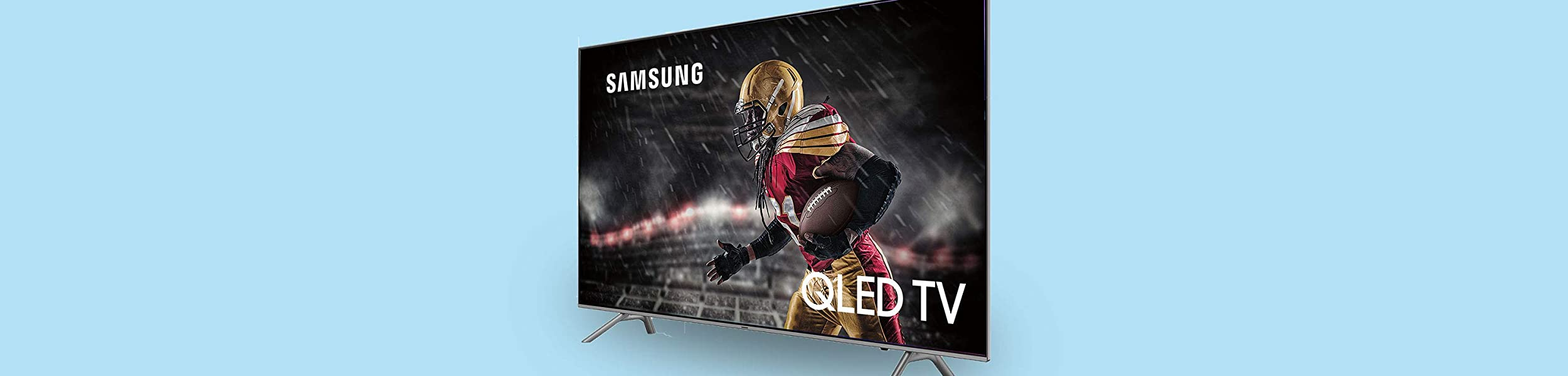 Watch the game like never before with QLED screens as big as 82''.