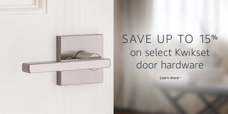 Save up to 15% on select Kwikset door hardware