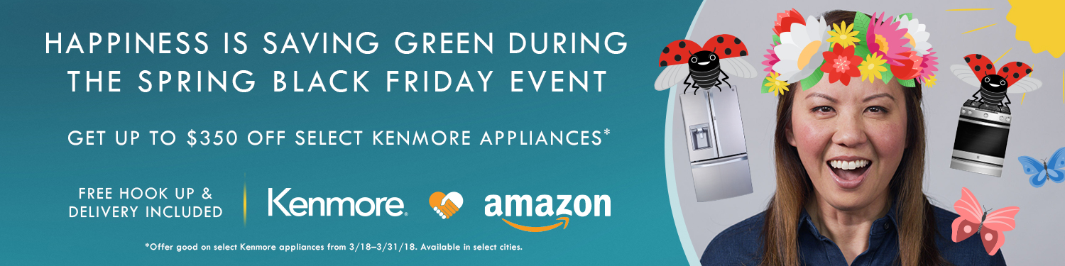 Save up to $300 on select Kenmore major appliances
