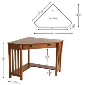 Mission Oak Finished Corner Desk