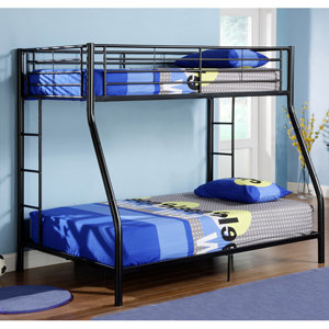 Walker Edison Twin Over Full Bunk Bed Black