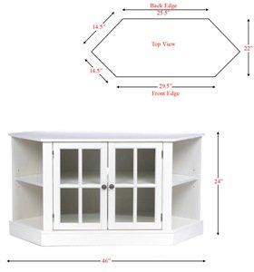 MS9672_03_300x300._V402456889_ SEI Furniture Thomas Corner TV Storage Media Stand, White