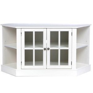 white corner tv stand Amazon.com: Southern Enterprises, Inc. Thomas Corner Media Stand  white corner tv stand