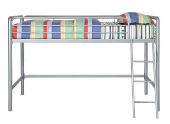 Amazon Com Dhp Junior Loft Bed Frame With Ladder Silver Kitchen