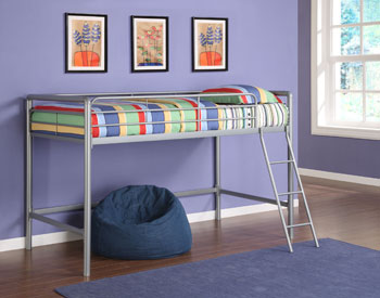 Fitting For Smaller Rooms The Space Saving Design Of This Loft Bed Is Durable And Solid Through Years Use Junior Metal In Silver