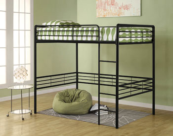 the high quality metal frame is durable solid and secure some assembly required for any room and anybody dhps metal full loft bed in black will fit