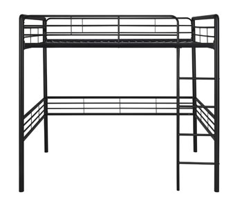 Amazon Com Dhp Full Metal Loft Bed With Ladder Space Saving Design