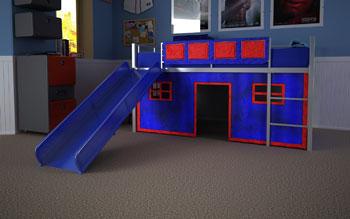 DHP Blue Curtain Set For Fantasy Loft