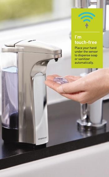 simplehuman soap dispenser