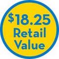 $18.25 Retail Value