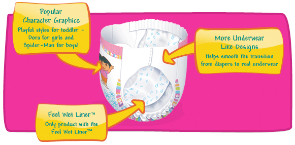 Amazon Com Pampers Feel N Learn Training Pants For Girls