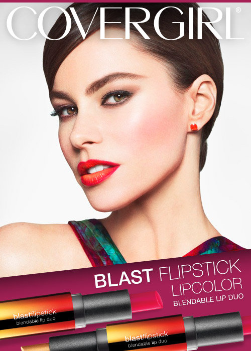 Covergirl Blast Flipstick; 3 Lipstick color choices in One lipstick. #GotItFree