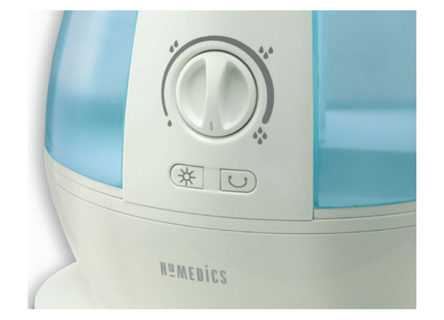 Homedics oscillating cool mist ultrasonic for Small room humidifier