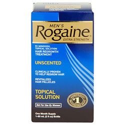 ROGAINE 7463069b0e0b71cfc0ea92922cb07e06for Men Hair Regrowth Treatment, Extra Strength Original Unscented (Three-month Supply of Three 2-fluid-ounce Cans) Product Shot