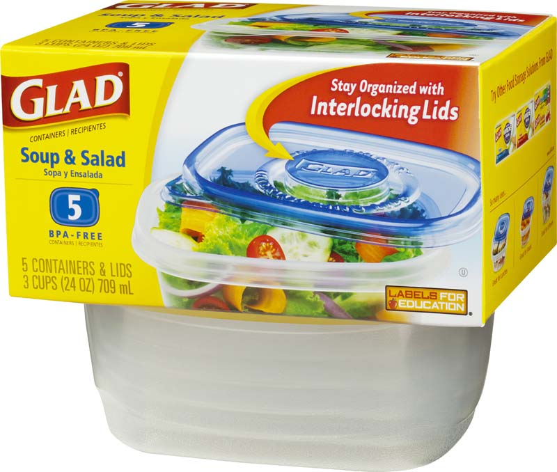 Amazon.com: Glad Food Storage Containers - Soup and Salad
