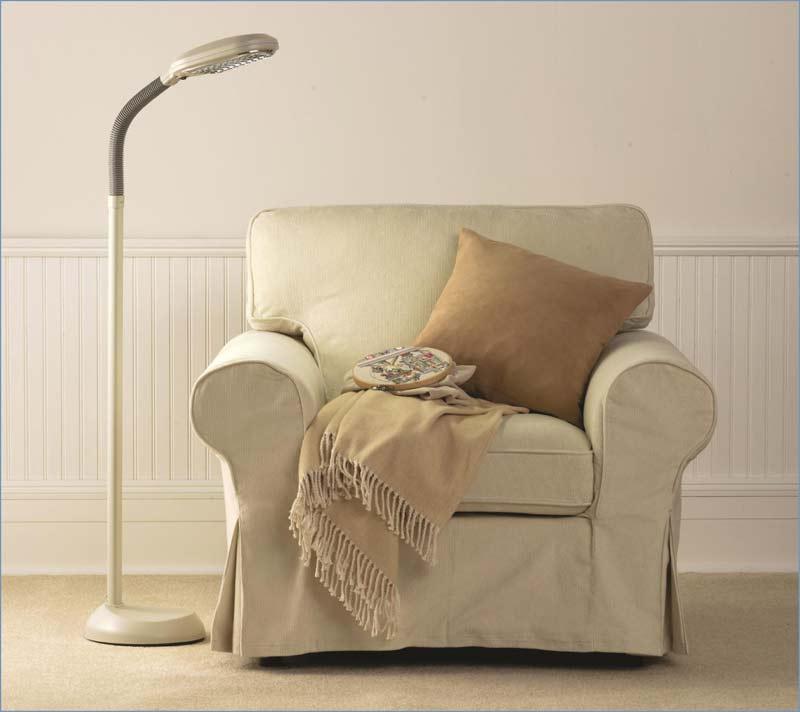 verilux original natural spectrum floor lamp graphite lifestyle shot