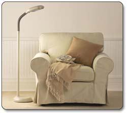 Verilux Original Natural Spectrum Floor Lamp, Graphite Lifestyle Shot