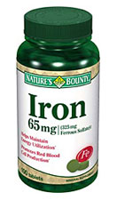 Nature's Bounty Iron 65 mg (100 Tablets)