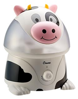 Crane Adorable Ultrasonic Cool Mist Humidifier, Cow