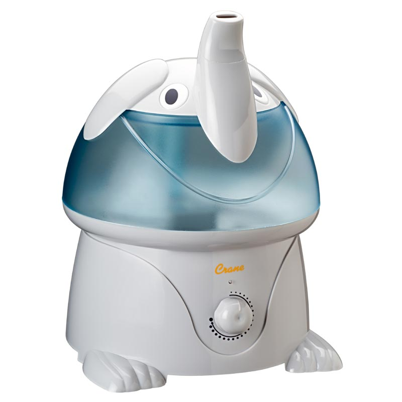 crane adorable 1 gallon ultrasonic cool mist humidifier elephant health personal. Black Bedroom Furniture Sets. Home Design Ideas