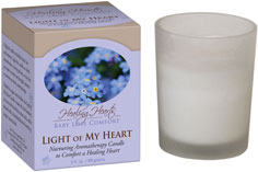 Earth Mama Angel Baby Healing Hearts Baby Loss Comfort, Light of My Heart Candle