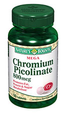 Nature's Bounty Mega Chromium Picolinate 800 mcg (50 Tablets)