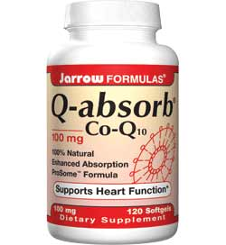 Jarrow Formulas Q-Absorb Co-Q10, 100mg, 120 Softgels Product Shot