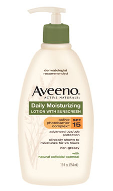 AVEENO Active Naturals Daily Moisturizing Lotion with SPF 15, 12-Ounce Pump Product Shot