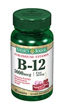 Nature's Bounty Sublingual B-12 500 mcg (100 Microlozenges)