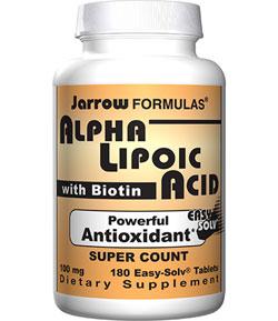 Jarrow Formulas Alpha Lipoic Acid 100mg, 180 Tablets Product Shot