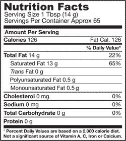 Jarrow Formulas Coconut Oil 100 Percent Organic, Extra Virgin, 32 Ounce Product Shot