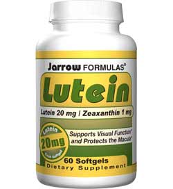 Jarrow Formulas Lutein, 20mg, 60 Softgels Product Shot