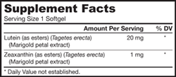 Jarrow Formulas Lutein, 20mg, 60 Softgels Product Shot