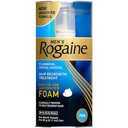 ROGAINE for Men Hair Regrowth Treatment, Easy-to-Use Foam (Three-month Supply of Three 2.11-ounce Cans) Product Shot
