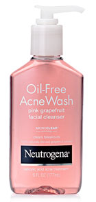 Neutrogena Oil-Free Acne Wash Pink Grapefruit Foaming Scrub Product Shot