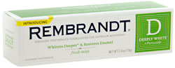 REMBRANDT DEEPLY WHITE Whitening Fluoride Toothpaste Winter Mint, 2.6 Ounces (Pack of Three) Product Shot
