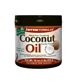 Jarrow Formulas Coconut Oil 100 Percent Organic, 16 Ounce Product Shot