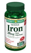 Nature's Bounty Gentle Iron 28 mg (90 Capsules)