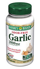 Nature's Bounty Odor-Free Garlic 2000 mg (120 Tablets)