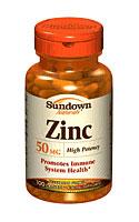 Sundown Naturals Zinc Gluconate 50 mg (100 Caplets)