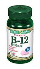 Nature's Bounty Vitamin B-12 1000 mcg (100 Tablets)