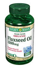 Nature's Bounty Flaxseed Oil 1200 mg (100 + 25 Bonus Softgels)