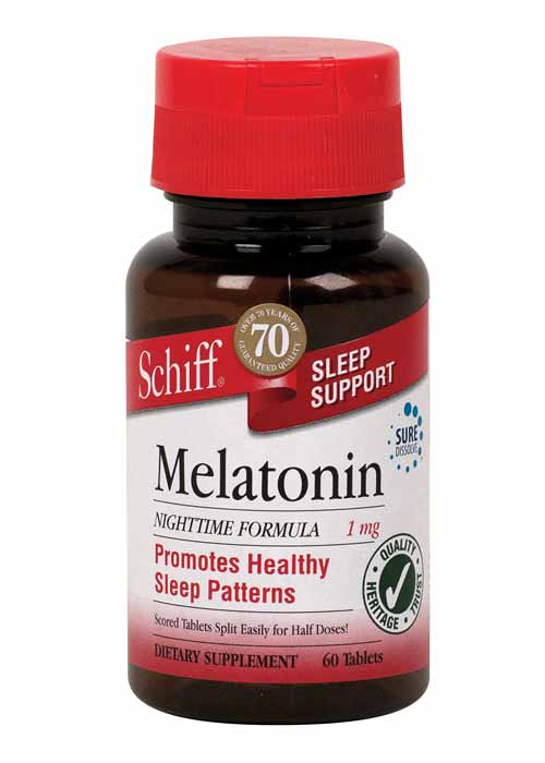 Schiff Melatonin Tablets, 1 mg Product Shot