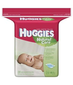 HUGGIES Natural Care Baby Wipes, Fragrance Free, Popup Refill, 216-Count Pack (Pack of 3) Product Shot