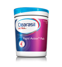 CLEARASIL Ultra Rapid Action Pads (90-Count, Pack of 6) Product Shot